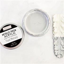 Peinture acrylique Metallic Sheen Fluid Mercury - Grise