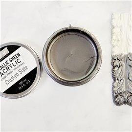 Peinture acrylique Metallic Sheen Crushed Slate - Grise