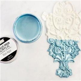 Peinture acrylique Metallic Sheen Rare Aqua - Bleu
