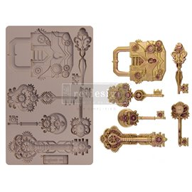 Moule ReDesign en silicone Mechanical Lock & Keys