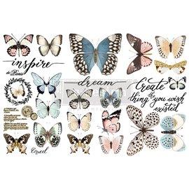 Transfert pelliculable Redesign Papillon Collection 15x30cm