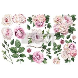 Transfert pelliculable Redesign Delicate Roses 15x30cm