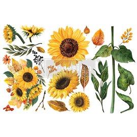 Transfert pelliculable Redesign Sunflower Afternoon15x30cm