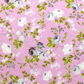 3 Feuilles décopatch rose fleurs lavande et blanche