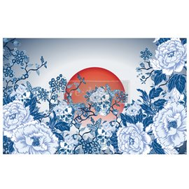 Papier de murier mulberry decoupage Redesign CECE Skull Chinoiserie 48x76cm