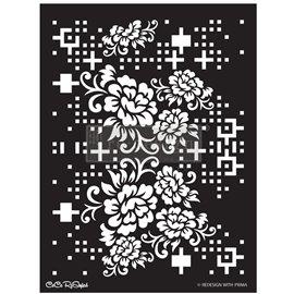 Pochoir décoratif Redesign Floral Matrix Collection CECE 45x65cm