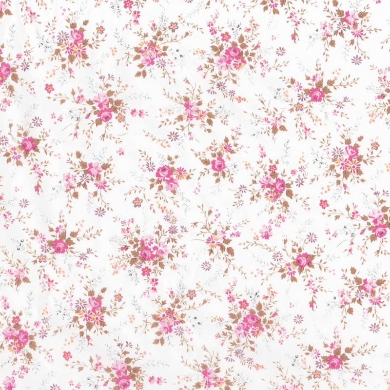 D copatch loisirs cr atifs feuilles blanc semis de fleurs - Deco printempsidees avec fleurs et motif floral ...
