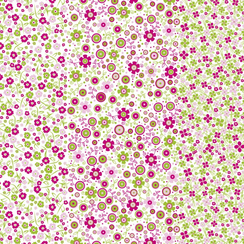 d copatch loisirs cr atifs feuilles blanc petites fleurs rose et vert. Black Bedroom Furniture Sets. Home Design Ideas