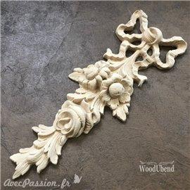 Moulure Woodubend Guirlande de fleurs 8x26cms