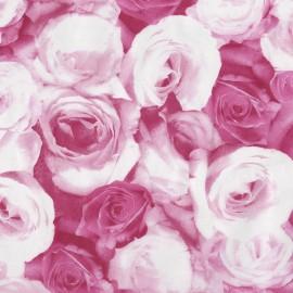 Feuilles décopatch roses rose et blanc
