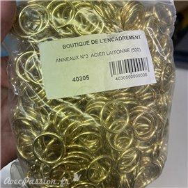 Attaches anneaux et lacets grands // anneauxn°3-  16int épais 22 soudés //40305*500