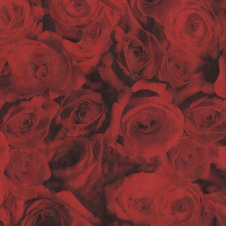 Feuilles décopatch roses rouge
