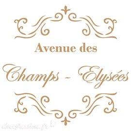 Pochoir décoratif Vintage 004 Avenue Des Champs S