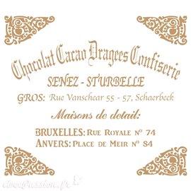 Pochoir décoratif Vintage 050 Chocolate Cacao S