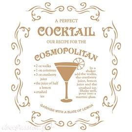 Pochoir décoratif Vintage 060 Cosmopolitan S