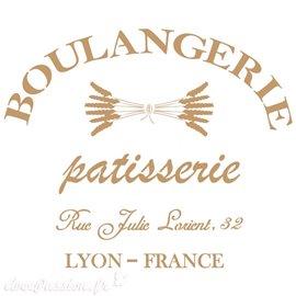 Pochoir décoratif Vintage 085 Boulangerie L