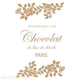 Pochoir décoratif Vintage 151 Chocolat Paris S