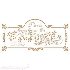 Pochoir décoratif Vintage 191 Aux Violettes S