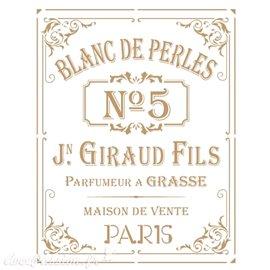 Pochoir décoratif Vintage 228 Blanc de Perles M