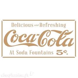 Pochoir décoratif Vintage 229 Cola S