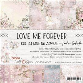 Papier scrapbooking Craft O Clock Love Me Forever 18fe assortiment 20x20