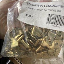 Attaches parisiennes petites // chape laiton 5/10 chape de 11 //43221*500