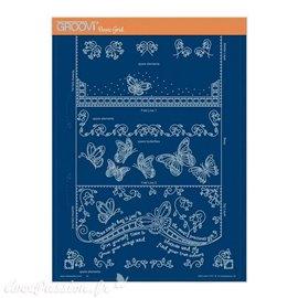 Groovi gabarit parchemin  it's a wrap PART 3 - BUTTERFLY TRIFOLD A4 : 21X29.7cm