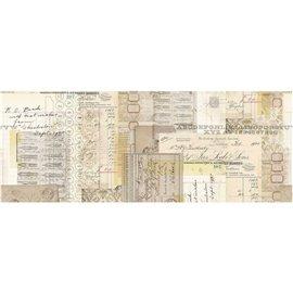 Papier pour collage Tim Holtz rouleau 15cmx5.49m Typographie idea-ology