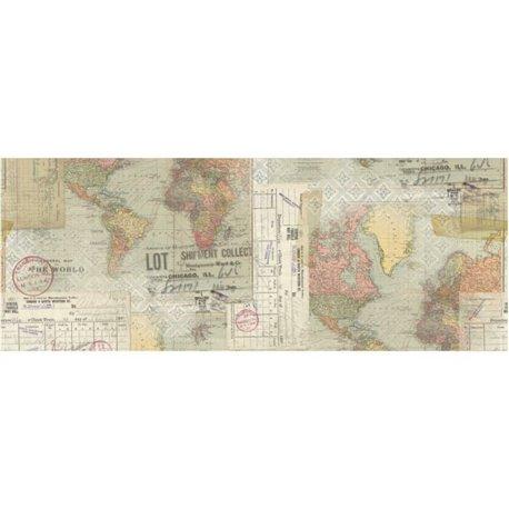 Papier pour collage Tim Holtz rouleau 15cmx5.49m Voyage idea-ology