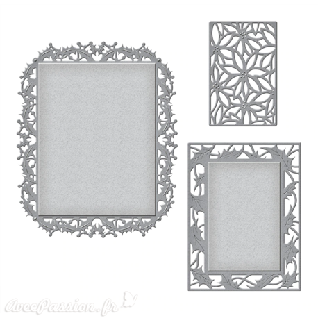 Dies découpe gaufrage Spellbinders Holly and Poinsetta