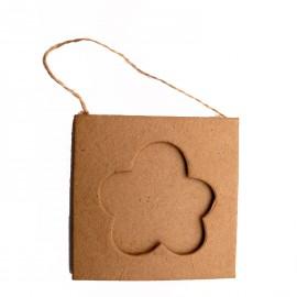 Cadre photo brut 1 fleur carton brut