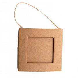 Cadre photo brut 1 carré carton brut