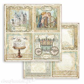 Papier Scrapbooking Sleeping Beauty 4 cards Stamperia 30x30cm double face