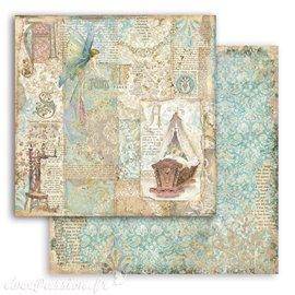 Papier Scrapbooking Sleeping Beauty cradle Stamperia 30x30cm double face