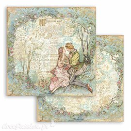 Papier Scrapbooking Sleeping Beauty lovers Stamperia 30x30cm double face