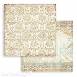 Papier Scrapbooking Sleeping Beauty texture gold Stamperia 30x30cm double face