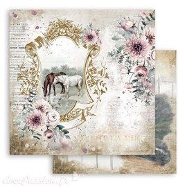 Papier Scrapbooking Romantic Horses Lake Stamperia 30x30cm double face