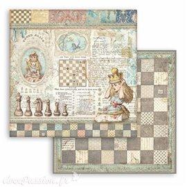 Papier Scrapbooking Queen Alice Stamperia 30x30cm double face