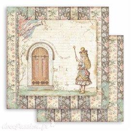 Papier Scrapbooking Alice door Stamperia 30x30cm double face