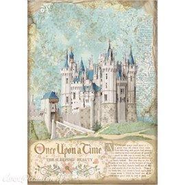 Papier de riz Sleeping Beauty castle Stamperia A4