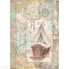 Papier de riz Sleeping Beauty cradle Stamperia A4