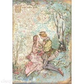 Papier de riz Sleeping Beauty lovers Stamperia A4