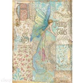 Papier de riz Sleeping Beauty fairy tales Stamperia A4
