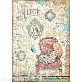 Papier de riz Alice looking-glass house Stamperia A4