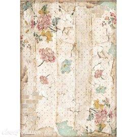 Papier de riz Alice wall texture Stamperia A4