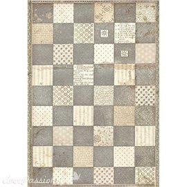 Papier de riz Alice chessboard Stamperia A4