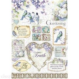 Papier de riz Love Nature birds Stamperia A4
