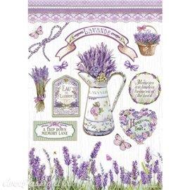 Papier de riz Lavender Stamperia A4