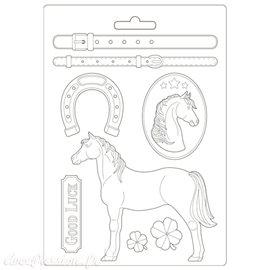 Moule Romantic Horses Stamperia A4