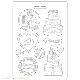 Moule Sleeping Beauty castle and cake Stamperia A4